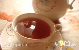 Черный чай с гранатом и мятой