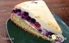 Творожный пирог с лесными ягодами