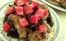 Закуска из баклажанов с огурцами и специями