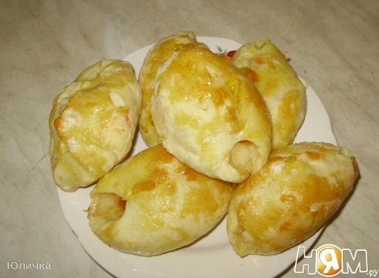 Рецепт Пирожки с абрикосом и сливой