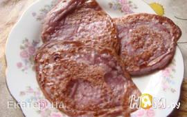 Цветные оладьи  (тесто с вареньем)