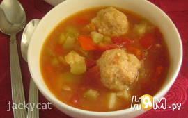 Густой суп с кабачками по-мексикански