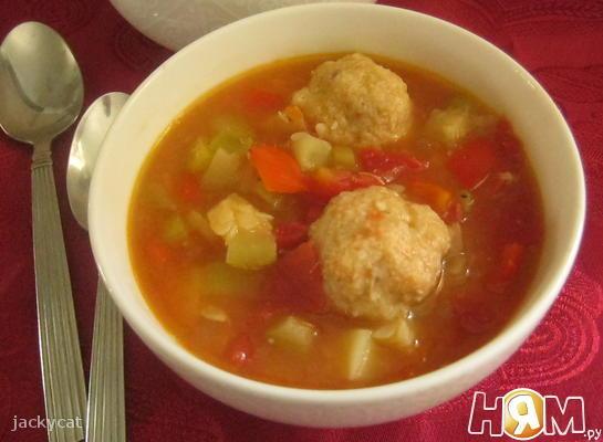Рецепт Густой суп с кабачками по-мексикански