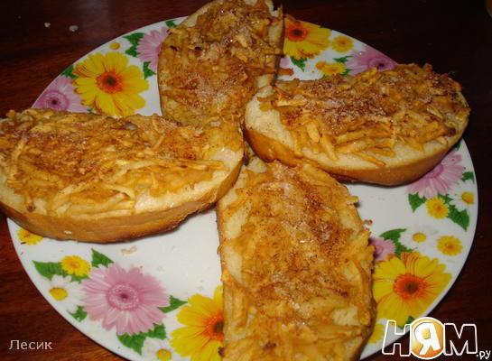 Рецепт Горячие бутерброды с яблоком и корицей