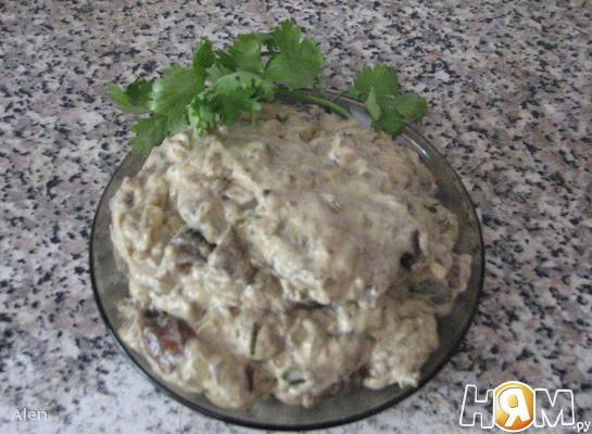 Рецепт Белые грибы в сливочном соусе
