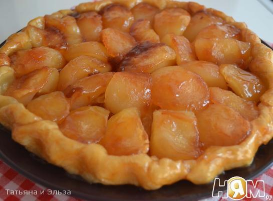 Французский яблочный пирог тарт Татен