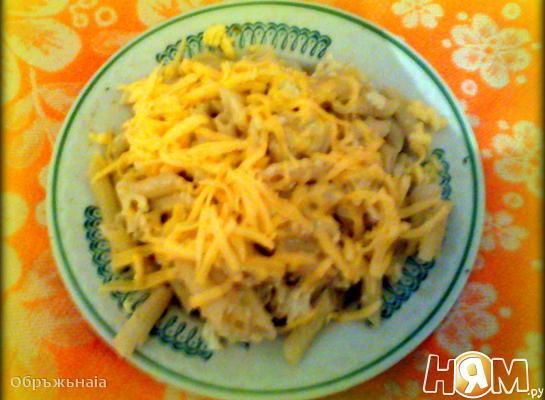 Макароны с яйцом и сыром на ужин