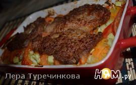 Овощная запеканка с мясом