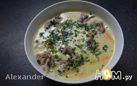 Рисовый суп из индюшиного горла