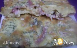 Омлет-запеканка с бэконом в духовке