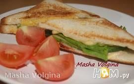 Сэндвич с сыром и карбонатом