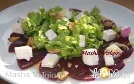 Салат с печеной свеклой и кешью