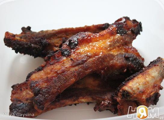 Рецепт Жареные свиные ребрышки в духовке