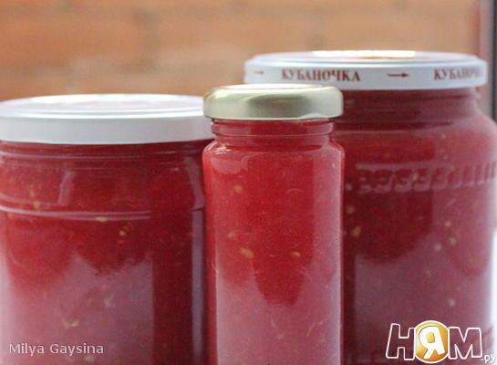 Рецепт Хреновина (хренодер) из помидор на зиму