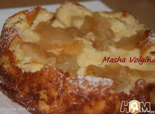 Рецепт Большой сырник с яблоками
