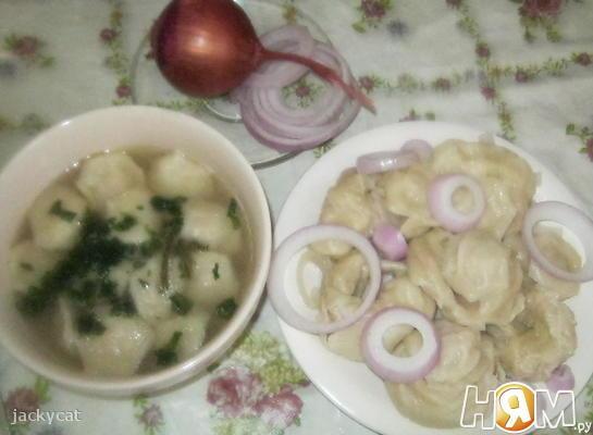 Рецепт Крэплах (домашние пельмени в бульоне)
