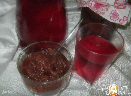 Рецепт Компот и джем из яблок и смородины