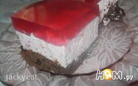 Торт-мусс из красной смородины