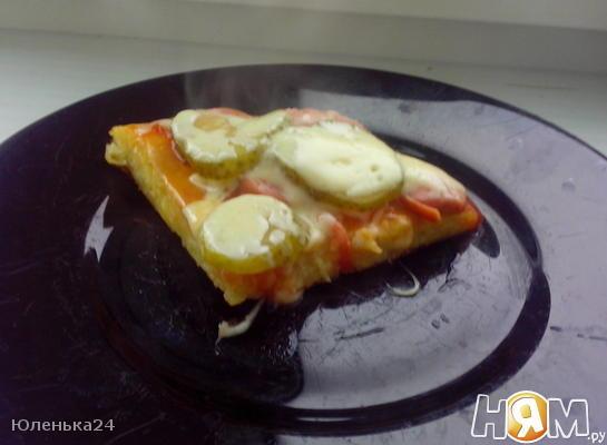 Рецепт Быстрая пицца к завтраку
