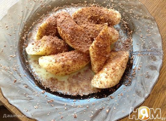 Рецепт Жареные бананы с ромом и орехами