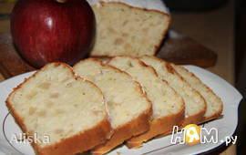 Кекс с йогуртом и яблоками