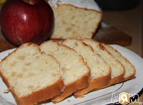 Рецепт Кекс с йогуртом и яблоками