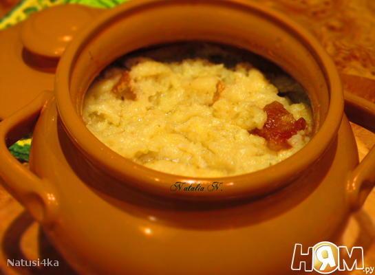 Рецепт Картофельная бабка в горшочке