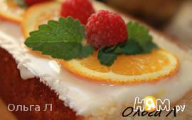 Манный пирог с апельсинами