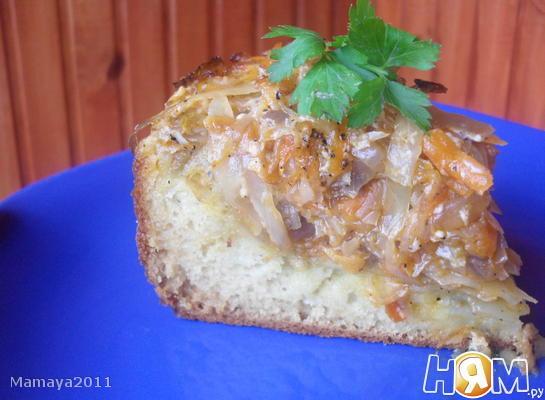Рецепт Быстрый пирог с капустой
