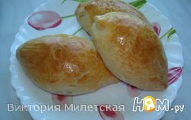 Простые шоколадно-яблочные пирожки