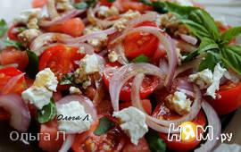 Салат из помидоров с арбузом