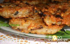 Оладьи картофельные с грибами