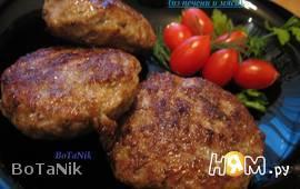 Котлеты из печени и мяса