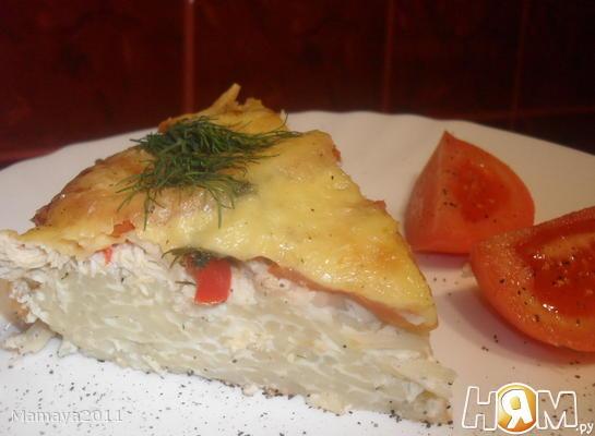 Рецепт Запеканка из вермишели с курицей