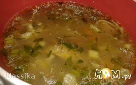 Суп из утки с белыми грибами