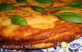 Картофельная запеканка с мясом и шпинатом