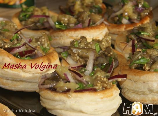 Рецепт Закуска из печеных баклажан и перца