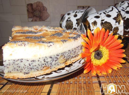 Сметанно - маковый пирог с суфле