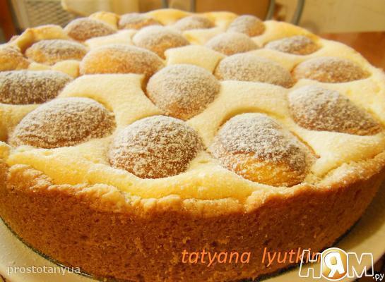 Рецепт Страсбургский пирог с абрикосами и малиной