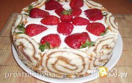 Творожный торт- десерт без выпечки