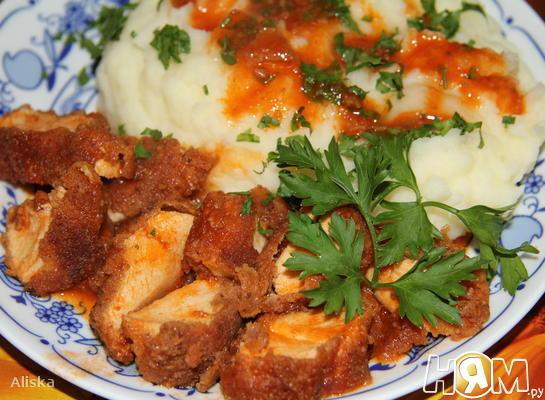Рецепт Куриные грудки в лимонно-томатном соусе