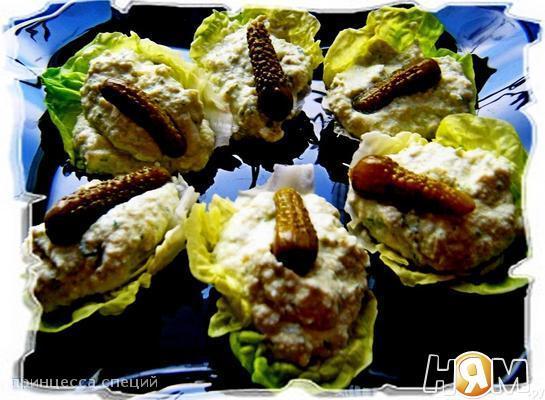 Рецепт Яичный паштет с корнишонами